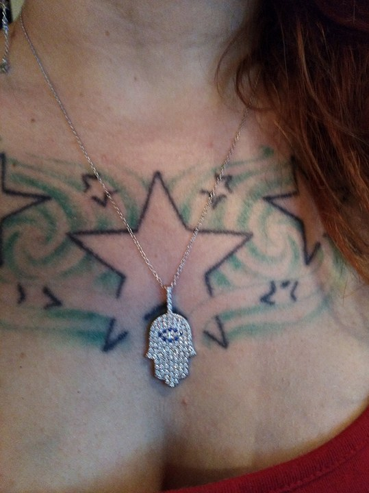 Gorgeous Hamsa Hand necklace